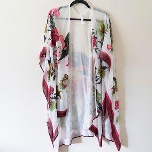 Anthropologie Velvet Ruana Kimono OS